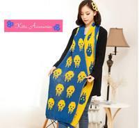 【韓國女裝】特長時尚骷髏仿羊絨針織頸巾 (5色選)