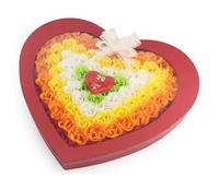 ❤ 心形炫彩版100朵香皂玫瑰花禮盒/手工皂 ❤ 情人節/生日禮物