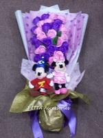 2018情人節送花給女友 ~ Mickey & Minnie Mouse香皂玫瑰花花束