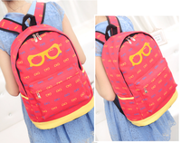 BAG1101 韓版大眼鏡帆布背囊/書包