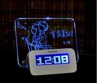 2017情人節/生日禮物 ❤ 愛的留言 ❤  手寫LED螢光留言板時鐘/鬧鐘
