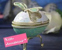 ★生日/情人節禮物推介★ 精緻蜻蜓蛋雕首飾盒音樂盒 (配日本sankyo機芯)