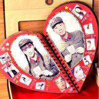 【情人節禮物推介 - 心型相簿】木紋封面 Forever Love/ My Story DIY手工相簿 (附密碼鎖禮盒)