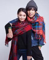 【情侶頸巾】韓國經典格仔仿羊絨頸巾 (8色選)