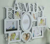 ❤ 老婆老公媽咪爸爸實用生日禮物推介 ❤ 創意FAMILY全家幅特大相架 (可放5張4R,2張5R,1張6R)
