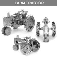 [小朋友/男朋友禮物推介] 益智DIY 立體金屬砌圖模型 - FARM TRACTOR農用拖拉機模型