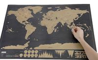 GF35b 精裝版刮刮世界地圖Scratch map(黑底) - 紀錄您的旅遊足跡