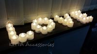 情人節生日求婚Party佈置道具 - LOVE拼字電子蜡燭48個
