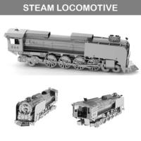 [小朋友/男朋友禮物推介] 益智DIY 立體金屬砌圖模型 - STEAM LOCOMOTIVE古董蒸氣火車