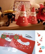 ★ 聖誕禮物 ★ 韓版創意立體聖誕卡包裝袋/聖誕裝飾套裝