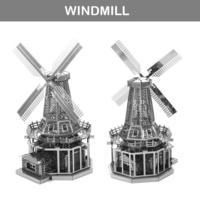 [小朋友生日禮物推介] 益智玩具DIY 立體金屬砌圖模型 - 世界建築荷蘭風車3D模型 [潮流新奇玩意]