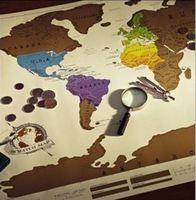 2017熱賣情人節禮物 - 刮刮世界地圖Scratch Map(白底) - 記錄您的旅遊足跡