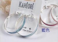 藍色大圈耳環