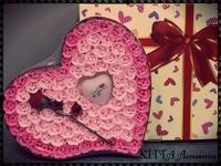 ❤ 2018女朋友生日/情人節禮物 (現貨) ❤ F22 PVC盒精裝100朵玫瑰花香皂花/手工皂 + LOVE YOU 閃燈