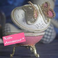 *~ 2018女朋友情人節禮物精選~* 浪漫蛋雕蝴蝶造型手工藝首飾盒音樂盒