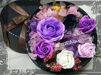 [新款]高檔香皂花配保鮮花禮盒 - 女朋友 老婆 生日 週年紀念日 情人節禮物首選