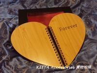 高級木紋封面 Forever Love/ My Story DIY手工相簿相冊  + 密碼鎖禮盒 (男朋友 女朋友 生日 求婚 情人節禮物)