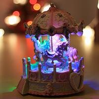 浪漫女朋友/小朋友聖誕禮物 ~ 旋轉木馬閃燈音樂盒(雙音樂,配兩個diy心型相架)