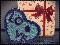 ❤ 聖誕節/情人節禮物推介❤ 100朵皂玫瑰花LOVE禮盒(加玫瑰花LED燈)