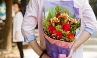情人節/聖誕平安夜求婚必選 - 高檔24K金箔玫瑰花 (可自己配在真玫瑰花束) 鮮花速遞 網上訂花