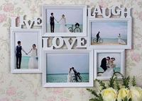 實用結婚/求婚禮物推介 ❤ 創意Live Love Laugh 組合情侶結婚掛牆相架