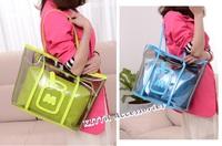 BAG1025 新款透明奶樽休閒袋/沙灘袋
