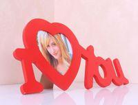 ❤ 求婚/情侶生日禮物 ❤ I Love You 歐式實木創意掛牆相框相架 (現貨)