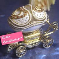 ❤ 最富創意情人節/求婚禮物 ❤ 童話公主馬車手工藝蛋雕首飾音樂盒