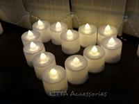 情人節生日求婚Party佈置道具 - 電子蜡燭12個