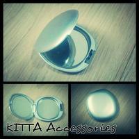 K22 銀灰色雙面鏡盒