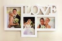 ❤ 求婚/結婚/情人節禮物推介 ❤ 創意LOVE情侶相框相架 (可放2張4R相&1張5R)