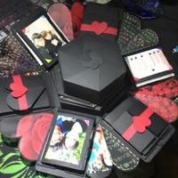 DIY情人節禮物推介 ~ 手作紅玫瑰相片示愛告白禮物六角盒子