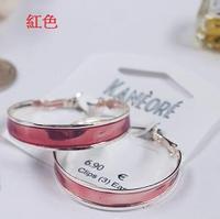紅色大圈耳環