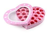 ❤ 心心禮盒雙色玫瑰香皂花(26朵) ❤ 母親節 情侶 謝師宴 女朋友 生日 情人節 花束