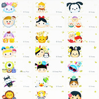 Disney TSUM TSUM name stickers 迪士尼 Tsum Tsum - CK 款 姓名貼紙 -3013