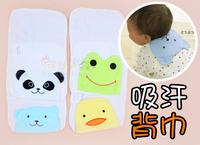 日本 可愛造型吸汗巾 墊背巾 紗巾 (加大款 21x33cm) 一SET 4枚入  100406