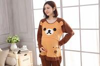 (向日葵小屋) )光棍節 1111 Rilakkuma 鬆馳熊產前産後孕婦裝月子家居服餵奶衣哺乳套裝 104683