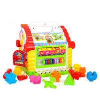 ((向日葵小屋))趣味 小屋 玩具 嬰兒 積木 益智 游戲 學習 過家家 百寶箱#9087