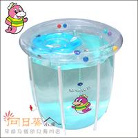(向日葵小屋)溫泉寶寶 baby spa 嬰兒遊泳池 嬰兒水療 透明水池 支架水池78*80 (超大款) 門市現貨發售 005