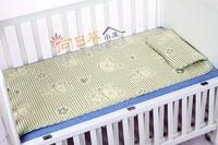 (向日葵小屋)香港孕婦及嬰幼兒專門店/環保竹炭熊仔/吸汗透氣/三文治床蓆/專用嬰兒床(涼蓆+枕頭)/120*60cm/僅售$98套/#104131