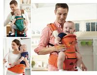 (向日葵小屋)出口韓國 AIEBAO HIP SEAT四季透氣雙肩嬰兒揹帶 純棉減壓孭帶 BB腰凳 多色選 4475