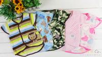 (向日葵小屋)日本原單 嬰兒服裝 童裝 保暖 珊瑚絨 單層嬰兒背心外套 包被 抱被 80cm90cm#105310