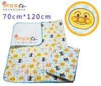 (向日葵小屋)香港孕婦及嬰幼兒專門店/寶寶/可愛卡通印花/面包超人/棉質床墊/新生兒/嬰兒床單/嬰兒蓋毯/夾棉/70cm*120cm/#105449