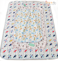 (向日葵小屋)出口 日本 嬰兒 防水 隔尿墊 透氣 寶寶 竹纖維 棉質 游戲墊 防滑三層 60x90cm #5276