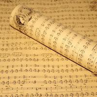 舊報音符花紙