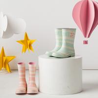 L-Rain春夏女士 雨靴 水鞋 防水 雨鞋 防滑中筒 (二色)