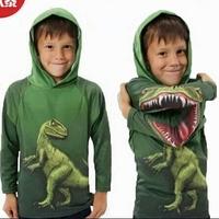 歐美 侏羅紀恐龍/兒童 立體 長袖連帽衛衣/ 百變恐龍衫