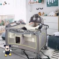 言B小店 - 獨家新款Garanimals PY81982i 實用BB網床嬰兒床(帶小床)