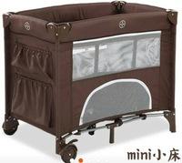 言B小店 - 全港獨家出口歐洲二層迷你嬰兒床網床帶狗洞 Playard- Mini bed, 可自取(速遞+$30)新款台灣布