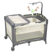 言B小店 - 獨家專櫃最新款BabyTrend PY81404 Tossed Animals 雙層BB床,嬰兒網床送公仔架 速遞+$60